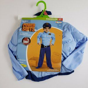 Policeman Police Officer Muscles Costume 2T